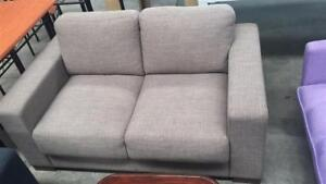 Brand New Thick Cushion Fabric Sofa 2/3 Seaters Taupe