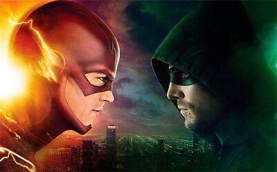 "TV CW Stephen Amell Green Arrow VS THE FLASH Decor POSTER LJX-30 36x24"""
