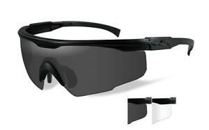 Wiley X PT-1 Smoke Grey/Clear Full Glasses PT1SC