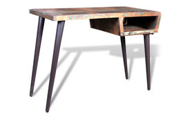 Reclaimed wooden desk/dressing table with iron legs