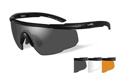 Wiley X Saber Advanced  Three-Lens Grey/Clear/Rust Protective Eyewear Item 308