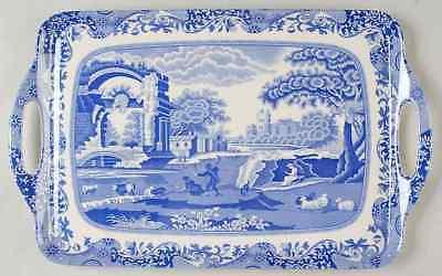 Spode BLUE ITALIAN Handled Rectangular Melamine Tray (Pimpernel) 9036001