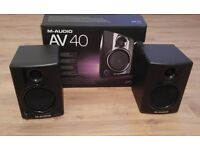 M-Audio AV40 Stereo Monitors for Sale.