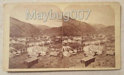 Vintage Antique Early Stereoview Card Idaho Springs From North Panorama View Co