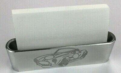 Business Card Holder Billet Aluminum Engraved Cobra 427 Silhouette