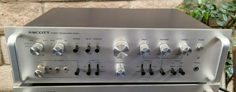 Vintage Scott Alpha 1 Stereo Control PreAmplifier PreAmp Works