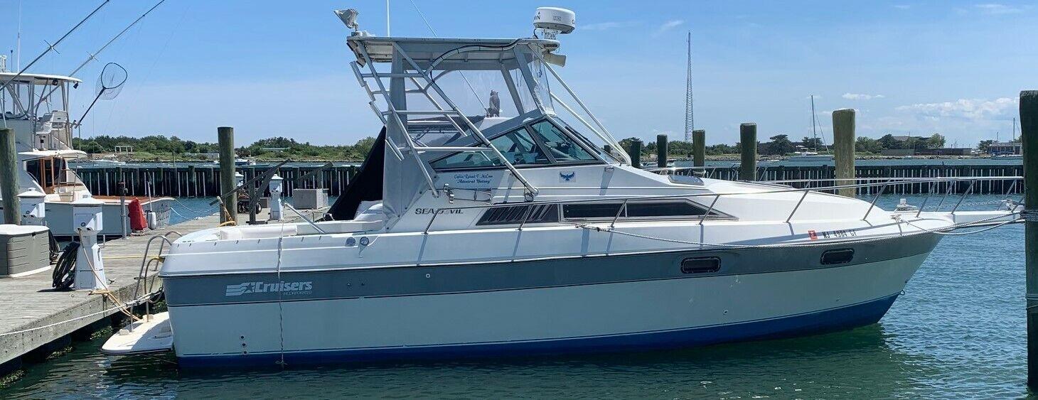 1987 Cruisers Sea Devil 290 29' Cabin Cruiser - New Jersey
