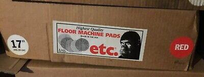 5 Etc Gorilla Cleaning Pads Floor Machine 17 Red