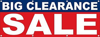 Big Clearance Sale Signs Banners Retail Store B-multiple-sizes-available