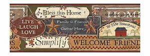 Country Kitchen Signs On Sure Strip Wallpaper Border PC3976BD