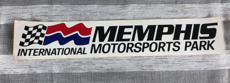 Vintage Memphis International Motorsports Park Bumper Sticker NEW WOW 15x2.75