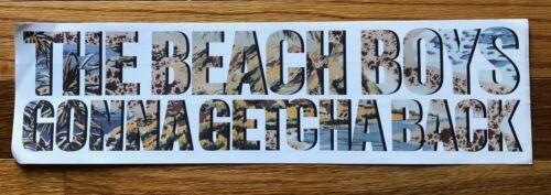 The Beach Boys Gonna Getcha Back RARE promo sticker 1985