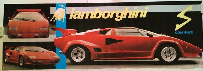 Lamborghini Countach Rare Door Size Poster