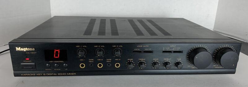 Magtone KA-1500T Karaoke Key & Digital Echo Mixer - 3 Mic Inputs - TESTED