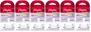 Playtex Baby NaturaLatch Most Like Mom Silicone Nipples 12 Count Y Cut 3-6M+