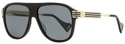 Gucci Square Sunglasses GG0587S 001 Black/Gold 57mm (Gucci 57mm Sunglasses)