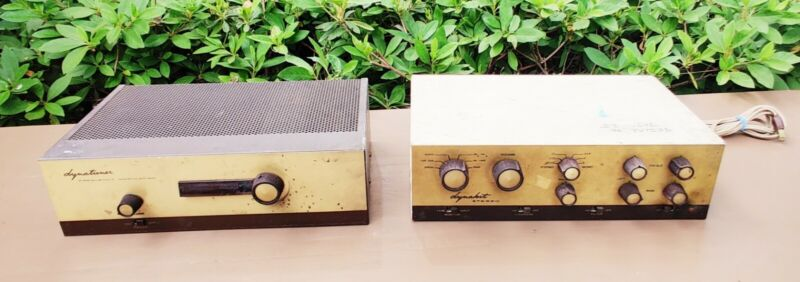 DYNA DYNAKIT PAS-2 Tube Stereo Preamplifier Preamp - Dynaco + Dynatuner Untested