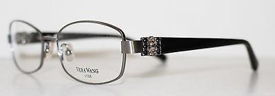 VERA WANG  LEIRA GUNMETAL New Designer Eyeglass Frame For Women