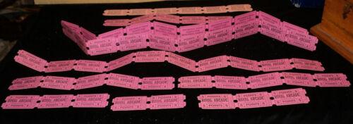 Seaside Heights New Jersey Vintage Ephemera Arcade Tickets