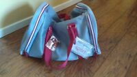 New Duffle Gym Bag Dolce & Gabbana D&G Silver/Grey with Red trim