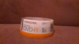 20 Pack DVD-R blank cds