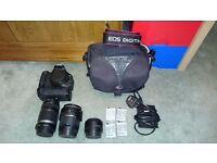 Digital Camera - Canon 600D + 3 lenses + Battery grip REDUCED PRICE