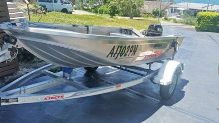 Stacer 359 Proline Aluminium Boat with 9.9hp Outboard Motor
