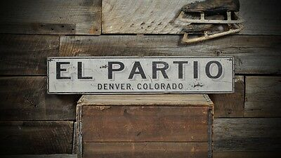 Custom City State Party Place Sign - Rustic Hand Made Vintage Wooden ENS1000673