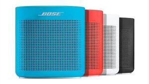 Haut-Parleurs Bose Bluetooth SoundLink Color II - PRODUIT NEUF !  TOUT LES COULEURS DISPONIBLE !