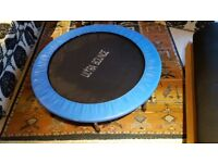 Compact Trampolene - 115cm Diameter x 22cm Height - suitable for fun, exercise and fitness