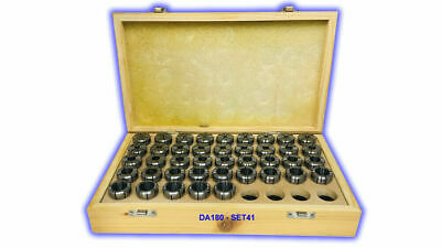 Da-180 Double Angle Collet Set Of 41 Pcs Da180-set41 Free Shipping