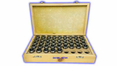 Da-180 Double Angle Collet Set Of 41 Pcs Da180-set41 Free Shipping