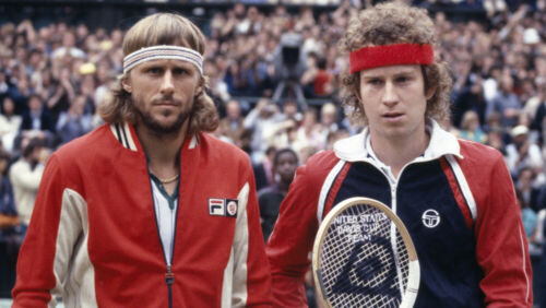 Retro Fila Headband & McEnroe Red headband. Tennis Fancy Dress