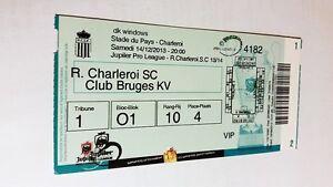 used ticket CHARLEROI - CLUB BRUGGE -14.12.2013 - Kraków, Polska - used ticket CHARLEROI - CLUB BRUGGE -14.12.2013 - Kraków, Polska