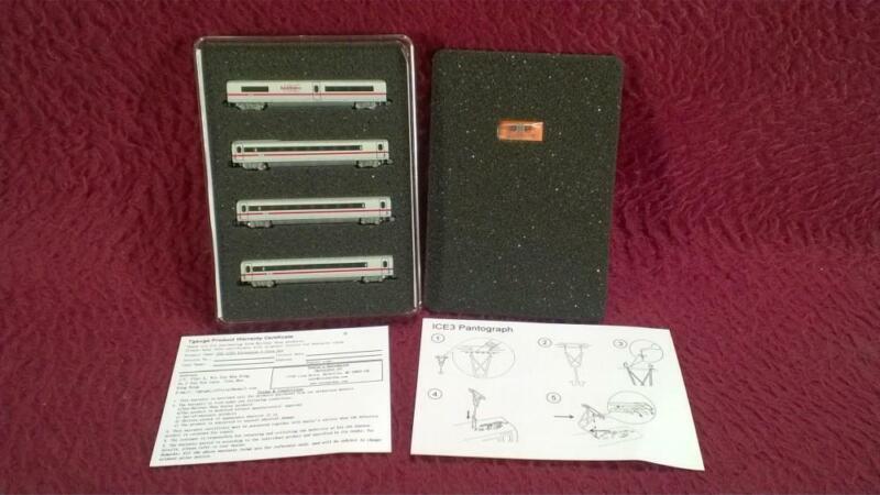 #2 EISHINDO T SCALE 1:450 039 ICE3 DB BAHN 4-CAR EXTENSION PASSENGER SET - NIP