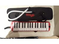 Stagg Melodica with Piezo Pickup Fitted and Soft Case