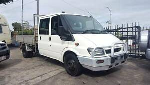 2005 Ford Transit Dual cab tray back truck 6 seats 150KM $14,999 Highgate Hill Brisbane South West Preview