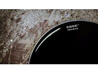 Drums Cymbals hardware sticks felts Code Drum heads