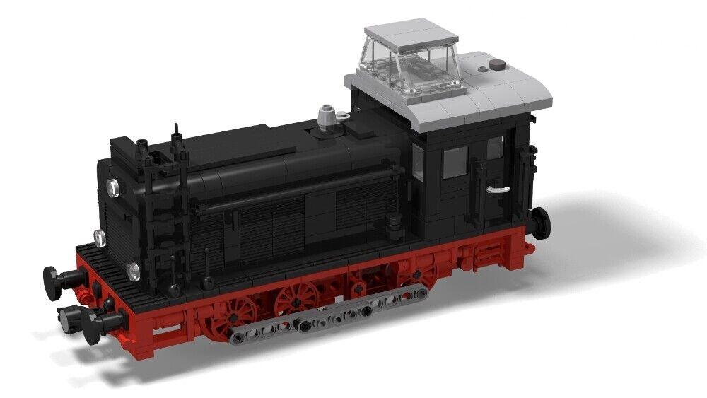 Eigenbau MOC PDF Bauanleitung Instruction V60 aus Lego® Steinen Eisenbahn
