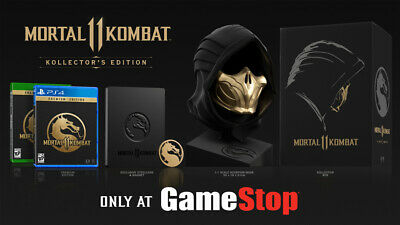 Mortal Combat Mask (NEW SEALED MK11 MORTAL KOMBAT 11 KOLLECTORS EDITION XBOX ONE XB1 COLLECTORS)