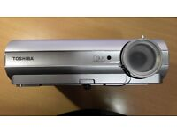 Toshiba TDP DLP Portable Projector Little used comes with strong aluminium case remote control