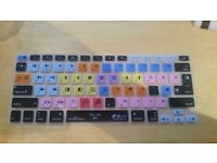 Avid Media Composer shortcut silicone Keyboard cover for iMac, MacBook Air and MacBook Pro keyboards