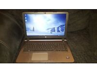 "HP Pavilion 15-ab141na Laptop, AMD A10, 8GB RAM, 15.6"", Twinkle Black"