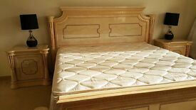 King Size Bedroom Suite includes bed, mattress, bedside cabinets and dressing table