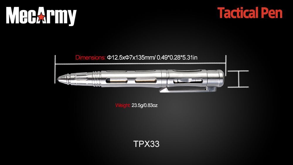 TPX33T Tactical pen, Mecarmy with glow bar insert