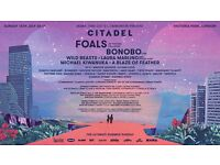 Two tickets for Citadel Festival 16th July Victoria Park