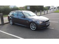 2006 BMW 325i M sport Touring/Estate auto 218 bhp 87000miles Full Black Leather FBMWSH
