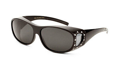 Fitover Sunglasses with Polarized Lens and Rhinestones Women Designer (Fitovers Sunglasses)