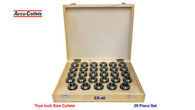 Er40 Ultra-prec Collet 29pc Set18-1 By 32nds 40-set29-inch-up Free Ship