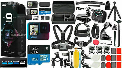 NEW GoPro HERO 9 Black 5K Video +  ***Deluxe Accessories Mega Bundle***